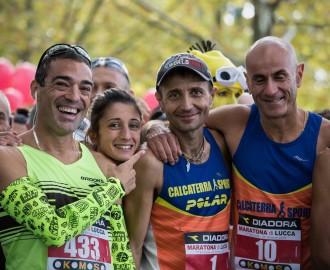 Foto alla partenza della Maratona di Lucca 2015